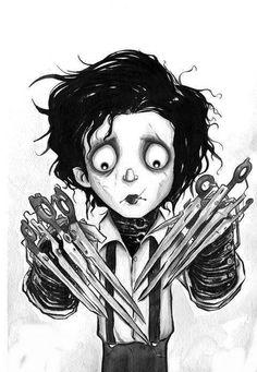 Jhonny Depp Estilo Tim Burton, Tim Burton Style, Tim Burton Art, Illustrations, Illustration Art, Theme Tattoo, Edward Scissorhands, Tatoo Art, Gothic Art
