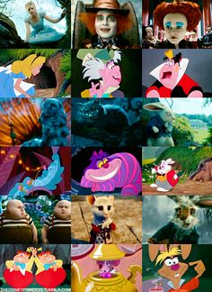 Disney's Alice in Wonderland and Tim Burton's Alice in Wonderland