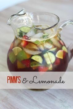 The perfect summer cocktail - Pimm's & Lemonade!