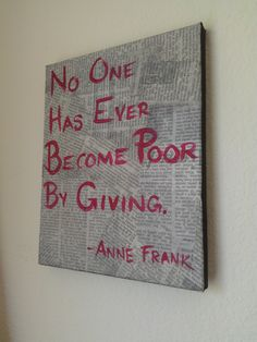 8x10 Anne Frank Quote Mixed Media. $20.00, via Etsy.