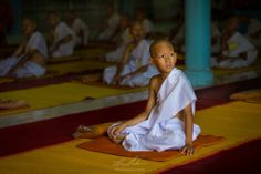 A Novice Monk at a ceremony in Nakhon Nayok, Thailand