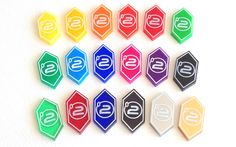 Android: Netrunner 2 credit tokens (10 pieces) - 21 colours