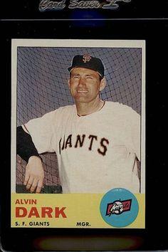 1963 Topps Set Break 258 Alvin Dark Exmt Exmint 46842b Gl7 Little League Baseball Cards Dark