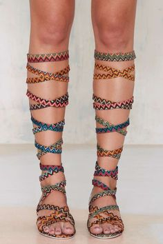Jeffrey Campbell Enyo Knee High Gladiator Heel - Nasty Gal