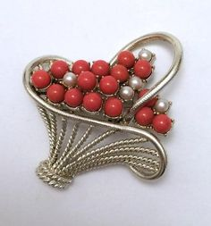 CORO Basket Brooch