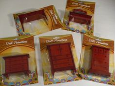 found this..I just found furniture at dollar tree last night and planned on doing something with it today, then I found this...Awesome!!! dollar tree has miniature furniture.  This website shows how to paint them, giving a distressed look