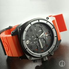 The tritium-enhanced Predator II is our featured watch of the week. Our custom brass dial adds a level of elegance that only MTM can bring. Customize yours today. #MakeItYourOwn . . Model: Black Predator with Black/Red Dial and Orange Rubber Band. . . https://www.specialopswatch.com/products-page/predators/black-predator-ii-bbb-01/ . . #BuiltForAction #chronowatch #customwatch #menswatch #militarywatch #MTM #MTMSpecialOps #MTMWatches #watch #watches #watchfam #watchgeek #watchlover