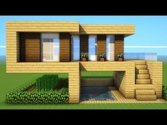 Minecraft: How To Build A Starter Wooden House Tutorial ( ) - Explore the best and the special ideas about Minecraft Houses Minecraft Farmen, Construction Minecraft, Minecraft House Plans, Minecraft Mansion, Minecraft Houses Survival, Easy Minecraft Houses, Minecraft House Tutorials, Minecraft Houses Blueprints, Minecraft House Designs
