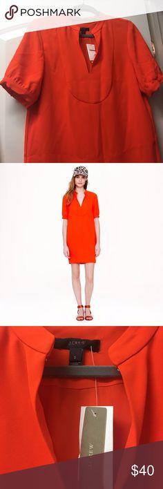 J. Crew Crepe Dress NWT orange crepe shift dress. J. Crew Dresses