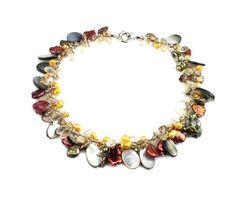 Kristall Süßwasserperlen Halskette