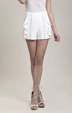 Woven Ruffled Shorts