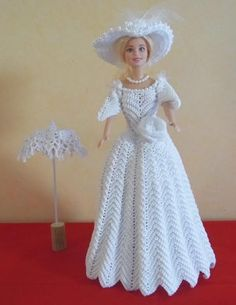 51 ideas crochet dress bride barbie wedding for 2019 Barbie Bridal, Barbie Wedding Dress, Barbie Gowns, Barbie Dress, Crochet Doll Dress, Crochet Barbie Clothes, Doll Clothes Barbie, Barbie Doll, Habit Barbie