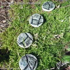 Fairy Garden Stepping Stones Set 5  Round by HeritageVision