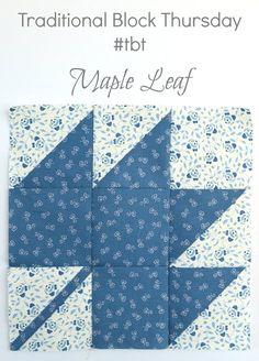 Penny Rose Fabrics Blog: Traditional Block Thursday: Maple Leaf