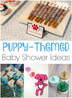 These adorable puppy themed baby shower ideas are perfect for welcoming your little one!