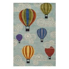 Momeni Lil' Mo Lil Mo Whimsy Hot Air Balloons Kids Area Rug | AllModern