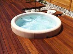 Whirlpool indoor eigenbau  whirlpool im garten edles holz | Jardines | Pinterest | Jacuzzi ...