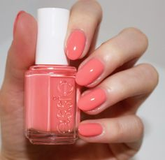 Essie spring 2016 collection - lounge lover - pretty peach pink - nail polish - spring nail polish