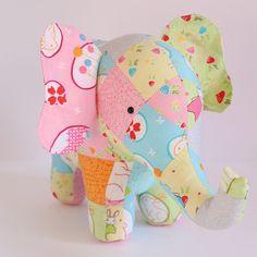 Trunk Show: elephant sewing pattern elephant pattern Sewing Patterns Free, Free Sewing, Elephant Pattern, Elephant Elephant, Stuffed Elephant, Elephant Trunk, Quilting Projects, Sewing Projects, Plush Pattern