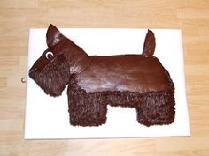 I don't suppose you would be particularly interested in making this cake unless you have a Scottie, or someone dear to you has one or loves . Dog Cakes, Doll Beds, Horses And Dogs, Dessert Decoration, Westies, Let Them Eat Cake, Antique Dolls, Fur Babies, Cake Decorating