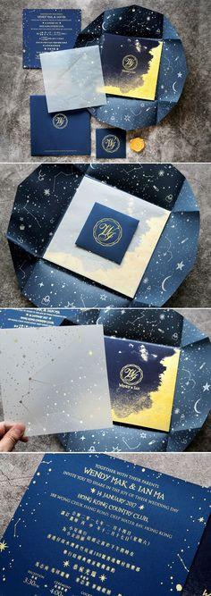 Constellation Wedding Invitation Card Design 喜帖設計 #wedding #weddingcard #invitation #喜帖 #囍 #design #graphic #hongkong #喜帖設計 #ppwedding #chinesestyle #modern #invitations #囍帖 #Constellation