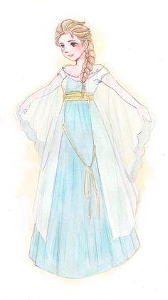 Elsa's new dress