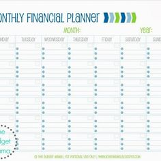 Financial Planning Worksheet Excel  Budget Templates