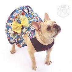Bulldog Francés Vestido de Frida por ForRosie en Etsy
