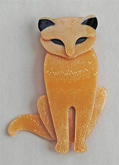Lea Stein Sasha Cat brooch