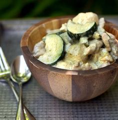 Thai Green Coconut Curry with Chicken and Zucchini
