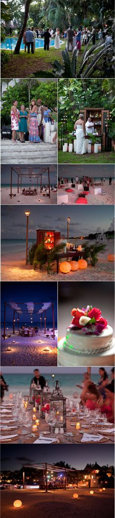 Love the bottom three shots. loving the beach lanterns.
