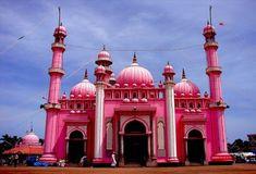 Pink Mosque at Beemapalli, Kerala, India