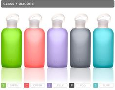 Hate beverages giving you metal mouth? glass & silicone h20 bottle. Add mint leaves for post-workout refreshment