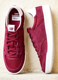 071e688c4c New Balance CRT300: Red Suede Tennis Sneakers, New Balance, Loafers & Slip  Ons
