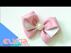 Laço Borboleta Butterfly #Ribbon Bow DIY by Elysia Handmade - YouTube