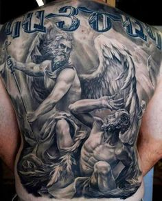 3D gods back Tattoo - http://tattootodesign.com/3d-gods-back-tattoo/ | #Tattoo, #Tattooed, #Tattoos