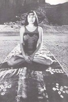 1970s: Yoga & meditation in the mountains, America (vintage yoga photo)…