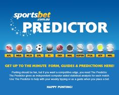 Sportsbet Predictor Form Guides & Predictions