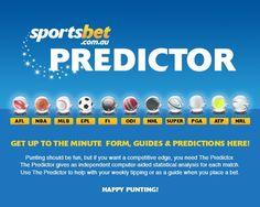 Sportsbet Predictor Form Guides & Predictions