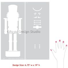 Painted and stenciled Nutcracker wall art above a decorated hall table or mantle - DIY Christmas and holiday decorations - Styled by Lowe's Creative Ideas - Royal Design Studio stencils Nutcracker Crafts, Nutcracker Figures, Nutcracker Christmas, Nutcracker Sweet, Classic Christmas Decorations, Christmas On A Budget, Christmas Holidays, Xmas, Christmas Mantles