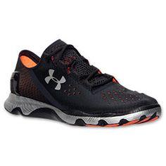 Men's Under Armour SpeedForm Apollo Running Shoes| FinishLine.com | Black/Silver