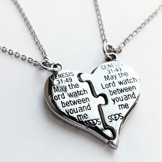 57a5e7a74 Shields of Strength - Stainless Steel Puzzle Piece Split Heart-Genesis  31:49 My
