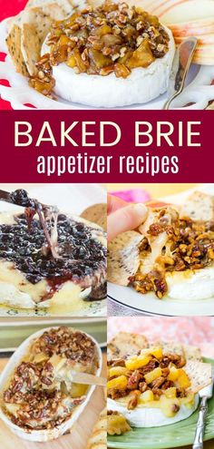 Melty and Delicious Baked Brie Recipe – Cupcakes & Kale Chips Baked Brie Appetizers – add the best Brie cheese appetizer recipes to your party menu. Ooey gooey melty brie with delicious toppings are perfect to pair with crackers to dip. Brie Cheese Recipes, Baked Brie Recipes, Recipe For Baked Brie Cheese, Baked Brie Toppings, Baked Brie Appetizer, Best Appetizers, Appetizer Party, Best Appetizer Recipes, Burger Recipes