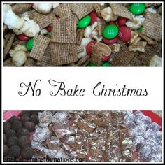No Bake Christmas... 6 no bake gift worthy recipes and ways to package them up as gifts.