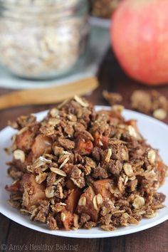 This gingerbread and apple crumble. | 19 Tasty Dessert Recipes Everyone With A Slow Cooker Needs