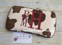 Brown Cow Print Minky Suede Print Boutique by LauraLeeDesigns108