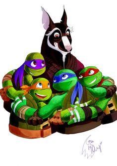 Master Splinter with his TMNT children - nothing is as strong as family! Tmnt 2012, Ninja Turtles Art, Teenage Mutant Ninja Turtles, Tmnt Comics, Nickelodeon, Fan Art, Anime, Cinema, Childhood