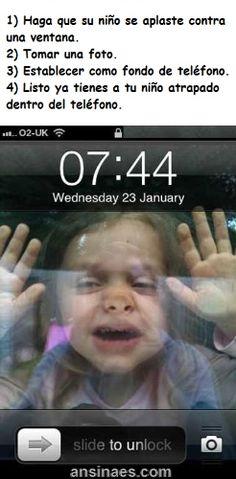 Imagenes chistosas - Como encerrar a tu hijo en el celular