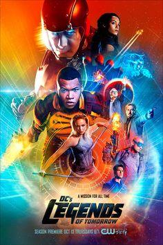 Depois de Arrow e Flash, é a vez de Legends of Tomorrow ganhar um novo pôster…
