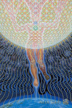 'Your task is not to seek for love, but merely to seek and find all the barriers within yourself that you have built against it.' Helen Schucman — at Painting by Alex Grey. Alex Gray Art, Grey Art, Chakras, Allyson Grey, Dream Painting, Spirited Art, Visionary Art, Psychedelic Art, Color Of Life